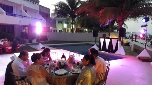 renta de luz y sonido, dj karaoke cancun, riviera, playa del