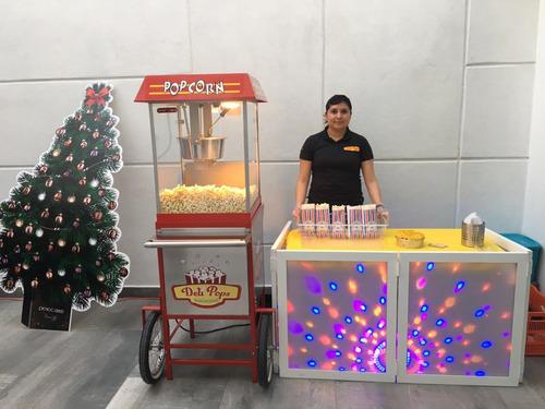 renta de maquina de palomitas,  helados y paletas de hielo