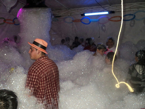 renta de maquinas de espuma para fiestas