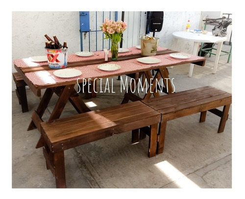 renta de mesas de picnic para eventos