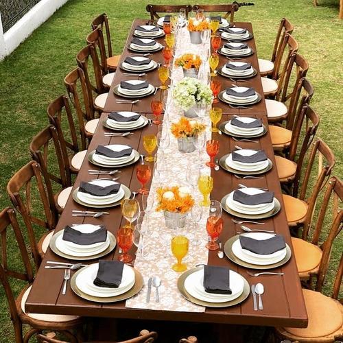 renta de mesas y periqueras tipo vintage o rusticas