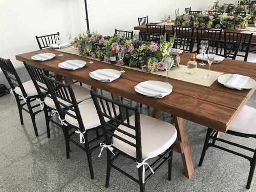 renta de mesas y periqueras tipo vintage o rusticas madera