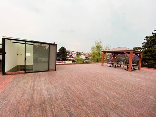 renta de oficina con roof garden en jardines de santa mónica