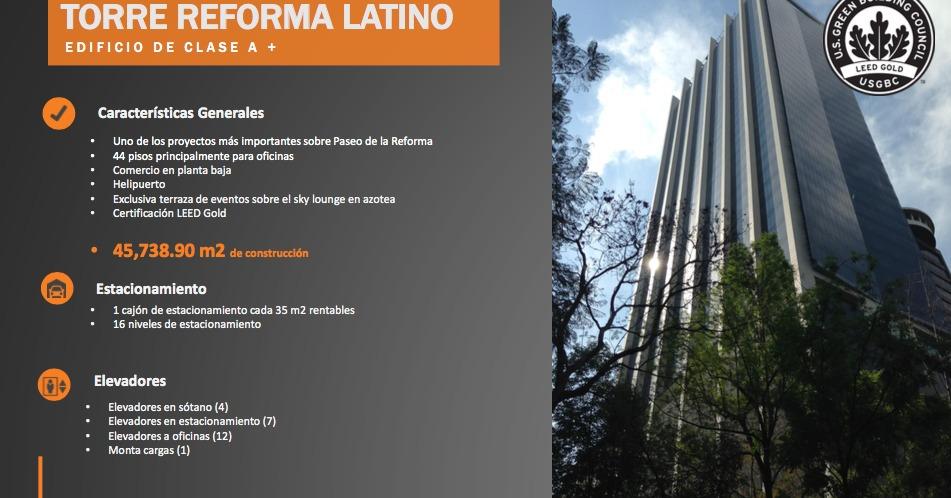 renta de oficinas comerciales en torre reforma latino