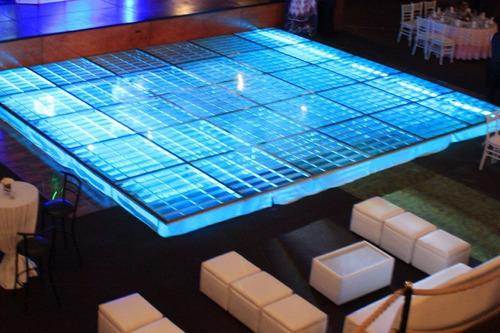 renta de pista iluminada de cristal dj & mobiliario