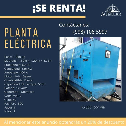 renta de planta eléctrica