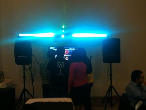renta de rockolas con karaoke,videos,musica,luces,$850 x dia