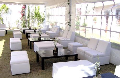 renta de salas lounge sillas salas vintage mesas  periqueras