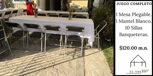 renta de sillas, mesas y toldos; mty, nl.