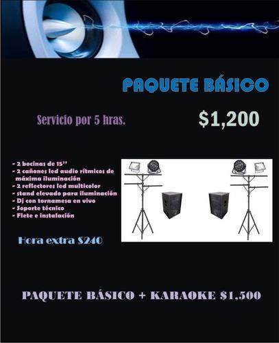 renta de sonido karaoke e iluminacion