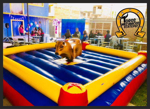 renta de toro mecanico inflables rockolas maquina palomitas
