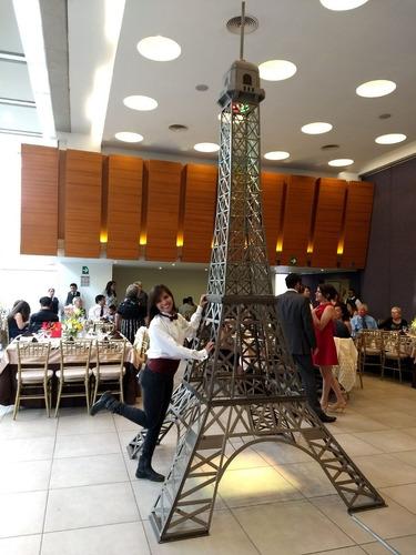 renta de torre eiffel para eventos, fiestas, xv años