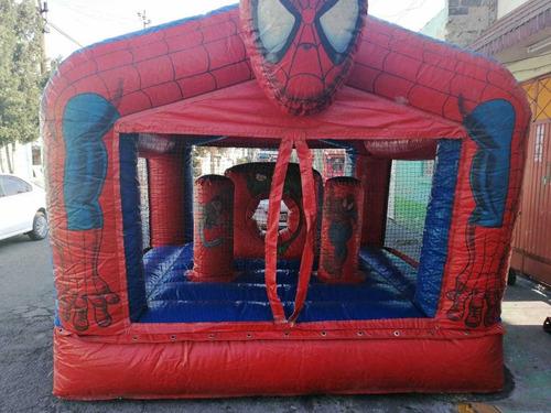 renta de trampolín g e inflable spider-man