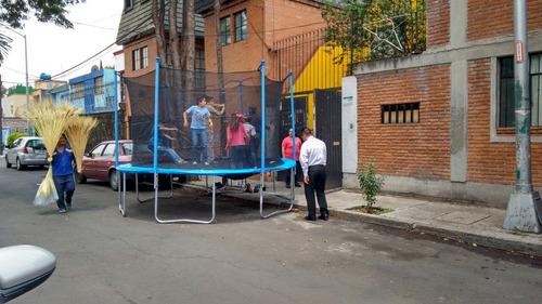 renta de trampolines a un exelente precio todo el dia