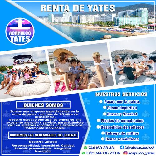 renta de yates privados en acapulco