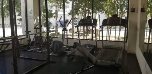 renta departamento de 3 rec planta baja selvanova casa club y gym playa del carmen  p3071