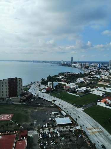 renta departamento zona sur, boca del río, vista al mar