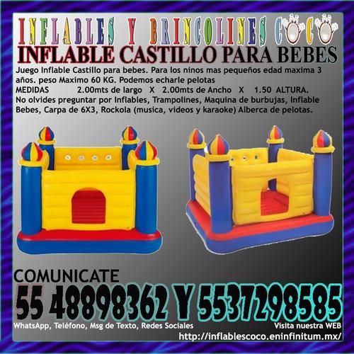 renta juegos inflables brincolines trampolines burbujas pelo