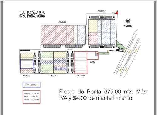 renta nave industrial 4415 m2