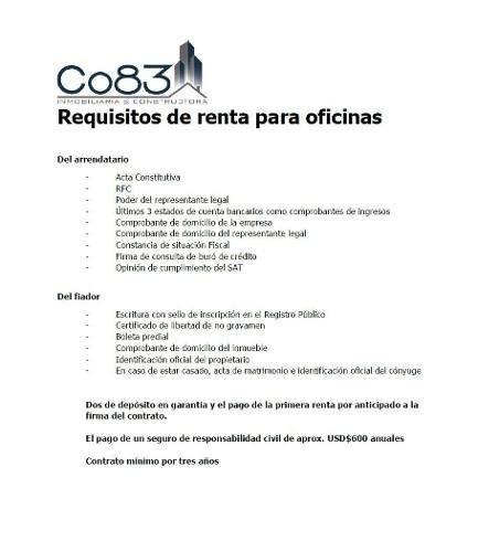 renta - oficina - rio lerma p.3 - 320 m - $80,000