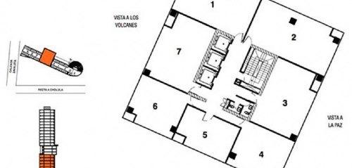 renta oficina torre omega centro mayor