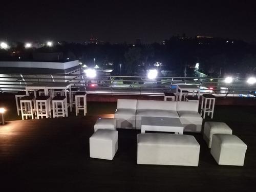 renta periqueras y salas vintage, lounge, pista iluminada dj