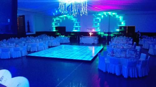 renta pista de baile inteligente iluminada con leds
