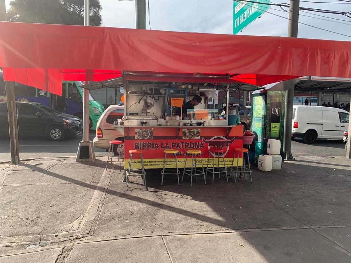 renta puesto fijo de comida en vía publica de acero i.