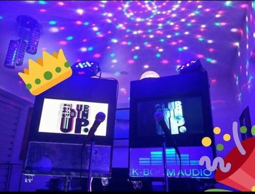 renta rockola karaoke touch 4 micrófonos luz y sonido