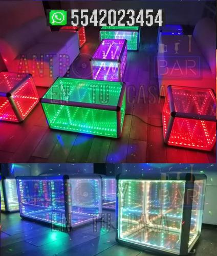 renta salas lounge neon iluminadas led + dj fiesta bartender