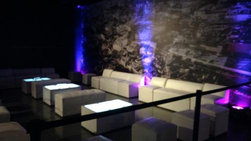 renta salas lounge, periqueras, barra iluminada, dj, karaoke
