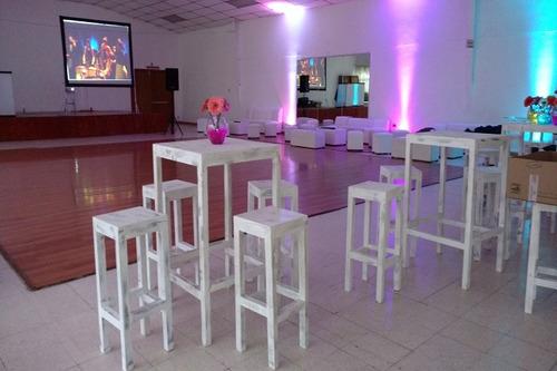 renta salas y periqueras vintage, lounge, dj, karaoke, pista