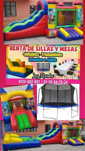 renta, sillas, mesas, adultas e inf, trampolines, inflables
