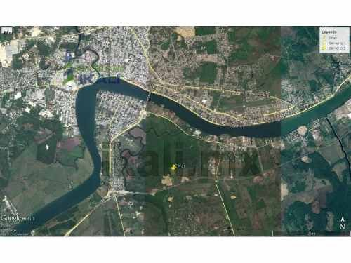 renta terreno por el libramiento portuario de tuxpan veracruz 2 has, ubicado a 300 m. perpendicular al libramiento portuario en el área correspondiente a la congregación la victoria a 6 km. de la adm