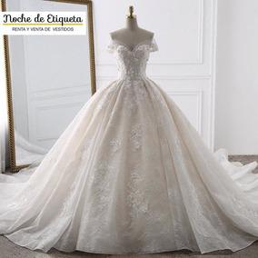 Renta Vestido De Novia Nuevo Encaje Blancomarfil