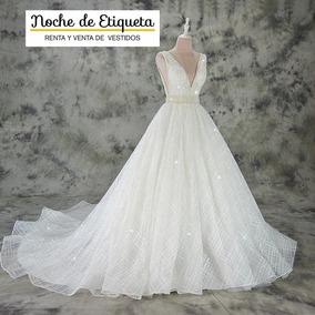 Renta Vestido De Novia Nuevo Escote V Blancomarfil