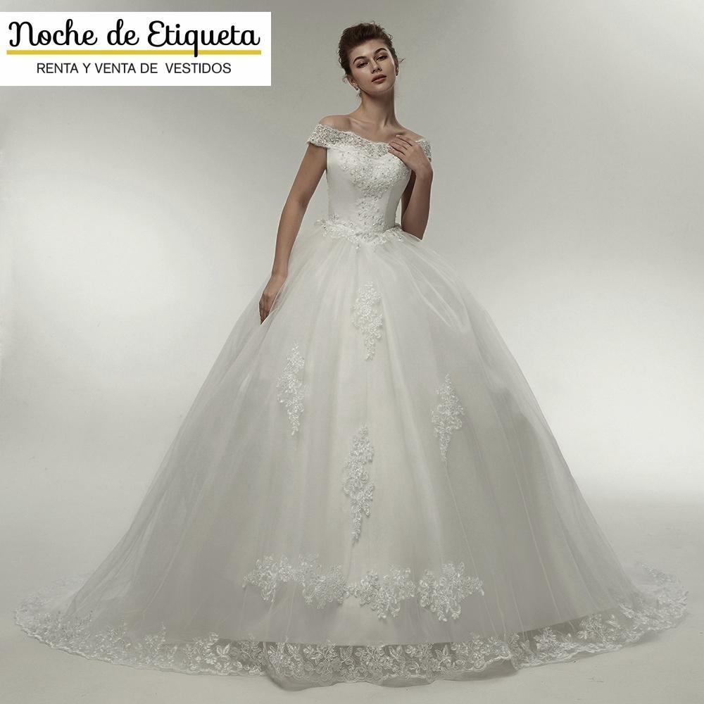 be5bf35cd renta vestido de novia nuevo manga hombro blanco marfil. Cargando zoom.