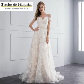 Renta Vestido Novia Nuevo Corte A Encaje Blancomarfil