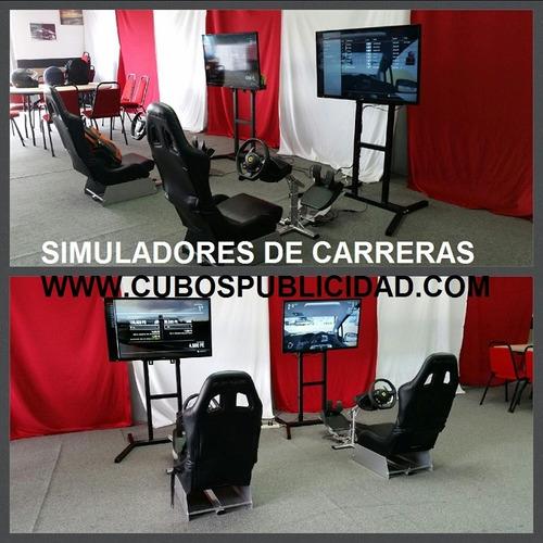 renta,de simuladores,carreras, maquinitas,xbox,wiiu,autos