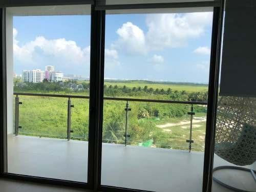 rento departamento amueblado de una recámara en puerto cancún, be towers