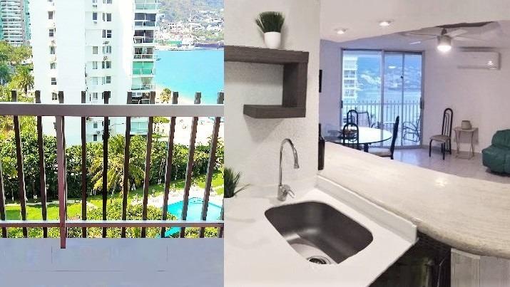 rento departamento en acapulco, con playa