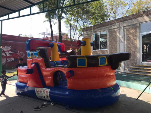 rento inflables mini barco y toy story