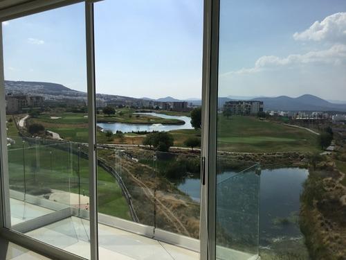 rento ph amueblado  vista al campo de golf de zibata en qro