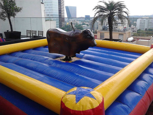rento toros mecanicos, inflables, futbolitos y rockolas