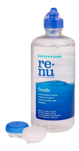 renu fresh 355 combo x 4 líquido + estuche lentes contacto