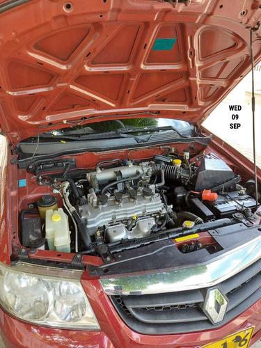 renult scala, mecánico, gasolina, modelo 2011, rojo gottini
