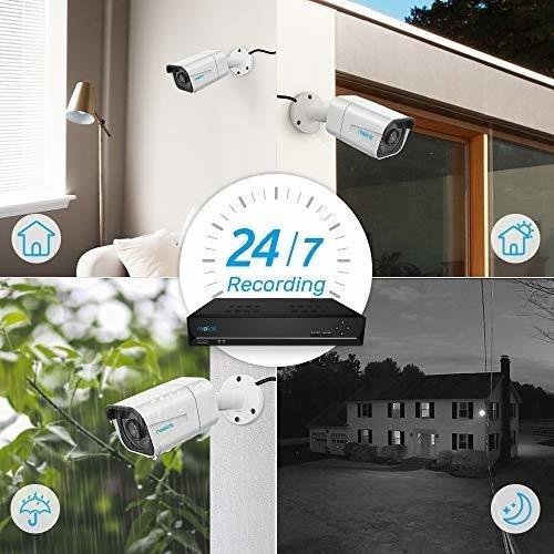 reo   cámara de vigilancia ip para interiores y exteriores
