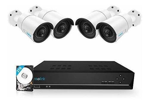 reo   sistema de cámara poe de seguridad para el hogar 8 can