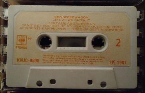 reo speedwagon - life as we know it, caset 1987, ed. epoca