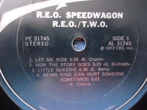 reo speedwagon / reo two vinyl lp acetato